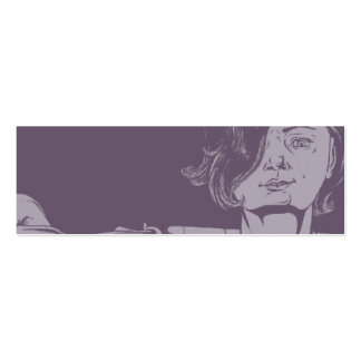 Girl With a Shotgun Bookmark Pack Of Skinny Business Cards