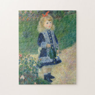 Girl with a Watering Can by Auguste Renoir Jigsaw Puzzle