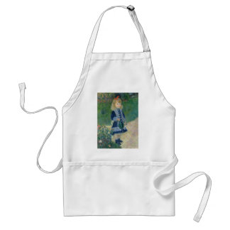 Girl with a Watering Can by Pierre-Auguste Renoir Adult Apron