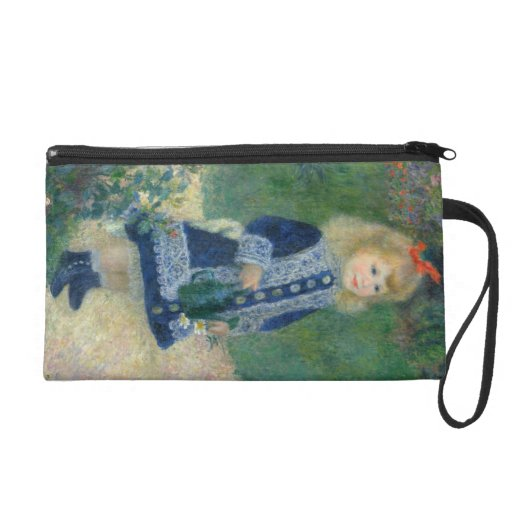 Girl with a Watering Can by Pierre-Auguste Renoir Wristlet Purse