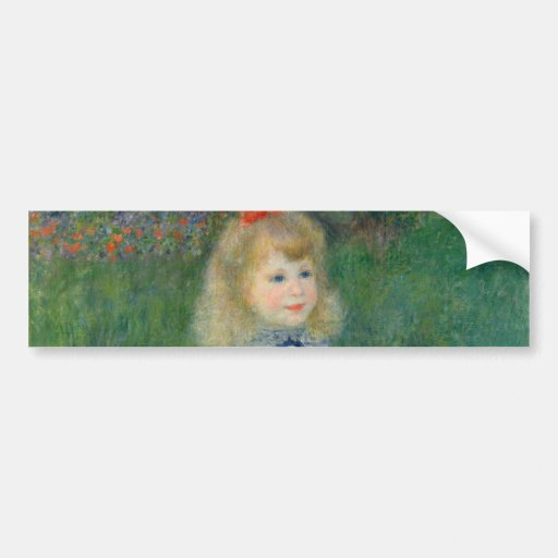 Girl with a Watering Can by Pierre-Auguste Renoir Bumper Stickers