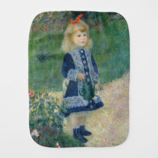 Girl with a Watering Can by Pierre-Auguste Renoir Baby Burp Cloths