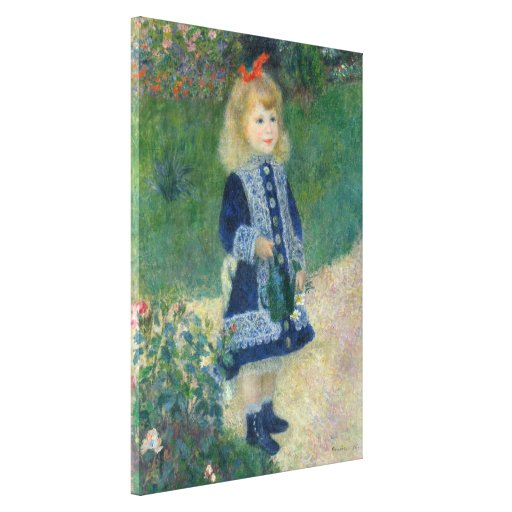 Girl with a Watering Can by Pierre-Auguste Renoir Stretched Canvas Print