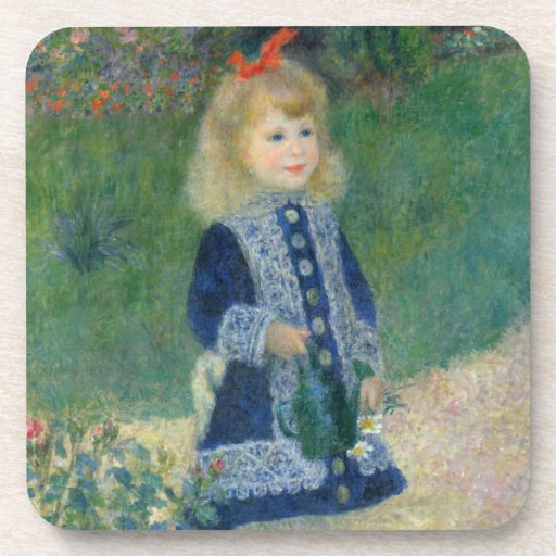Girl with a Watering Can by Pierre-Auguste Renoir Coasters