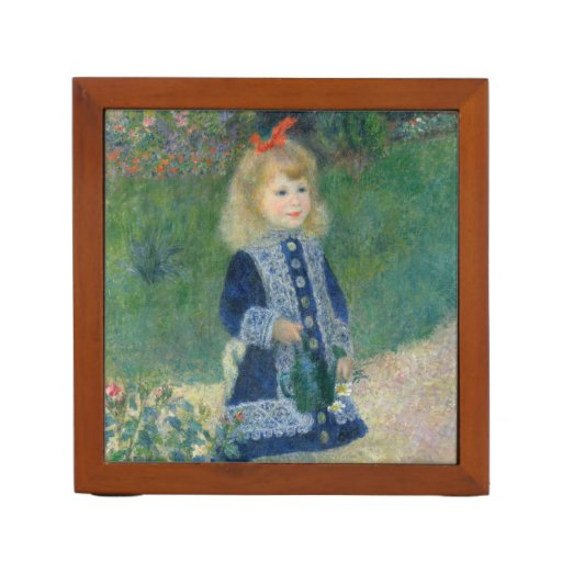 Girl with a Watering Can by Pierre-Auguste Renoir Desk Organizers