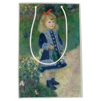 Girl with a Watering Can by Pierre-Auguste Renoir Medium Gift Bag