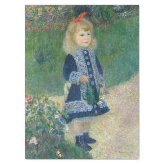 """Girl with a Watering Can by Pierre-Auguste Renoir 17"""" X 23"""" Tissue Paper"""
