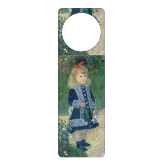 Girl with a Watering Can by Pierre-Auguste Renoir Door Hangers