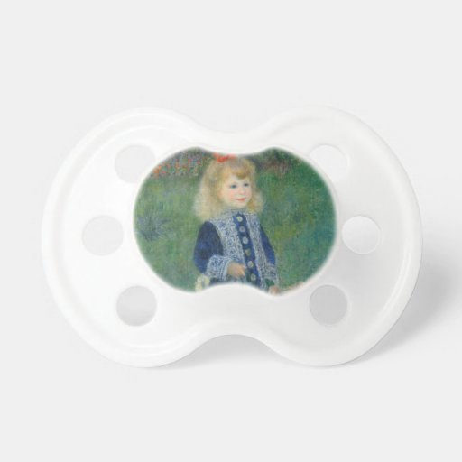 Girl with a Watering Can by Pierre-Auguste Renoir Pacifiers