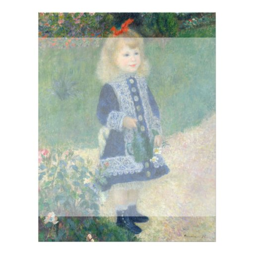 Girl with a Watering Can by Pierre-Auguste Renoir Full Color Flyer