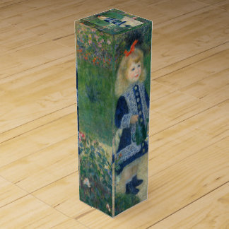 Girl with a Watering Can by Pierre-Auguste Renoir Wine Gift Box