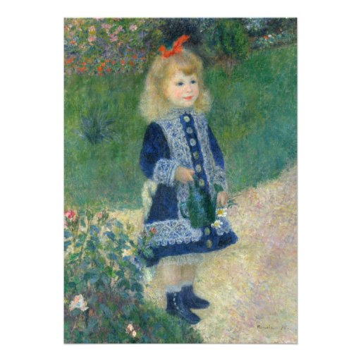 Girl with a Watering Can by Pierre-Auguste Renoir Custom Invite