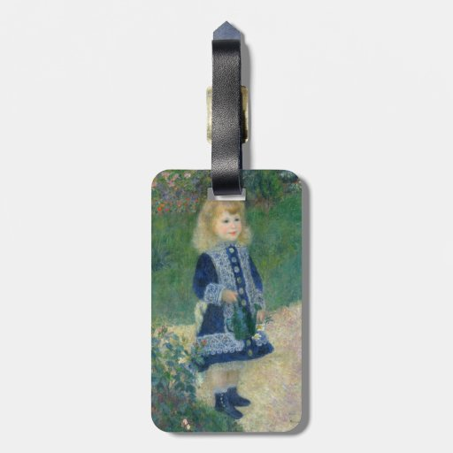 Girl with a Watering Can by Pierre-Auguste Renoir Bag Tag