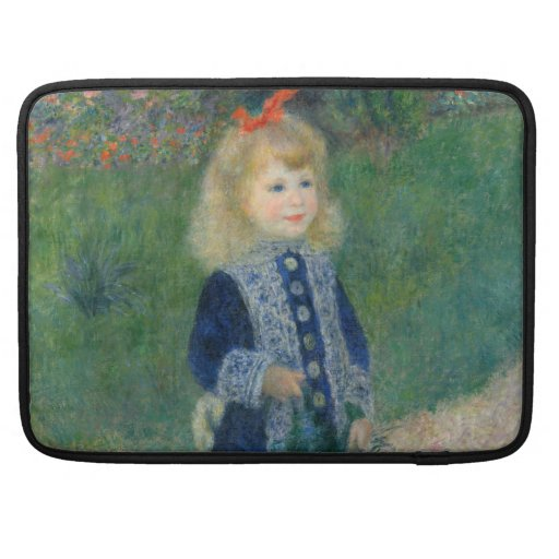 Girl with a Watering Can by Pierre-Auguste Renoir MacBook Pro Sleeve
