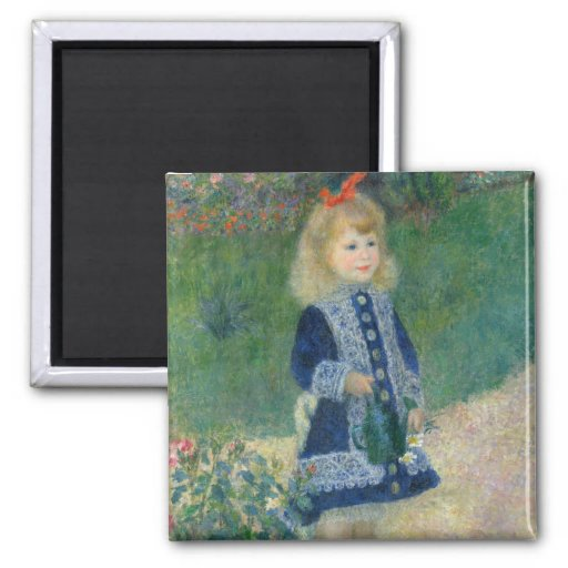 Girl with a Watering Can by Pierre-Auguste Renoir Magnet
