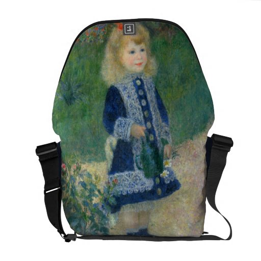 Girl with a Watering Can by Pierre-Auguste Renoir Courier Bag