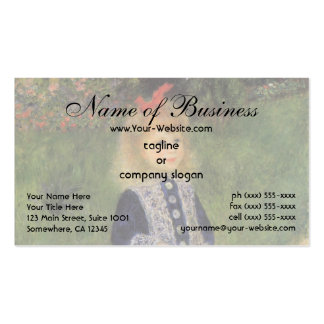 Girl with a Watering Can by Pierre Auguste Renoir Pack Of Standard Business Cards