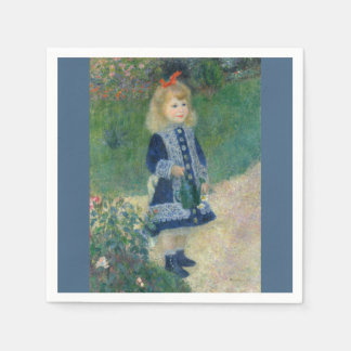 Girl with a Watering Can by Pierre-Auguste Renoir Disposable Napkin