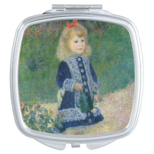 Girl with a Watering Can by Pierre-Auguste Renoir Makeup Mirrors