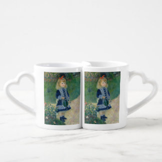 Girl with a Watering Can by Pierre-Auguste Renoir Couples Mug