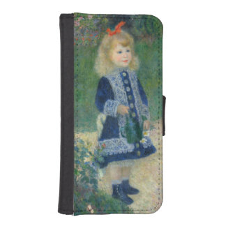 Girl with a Watering Can by Pierre-Auguste Renoir iPhone 5 Wallet