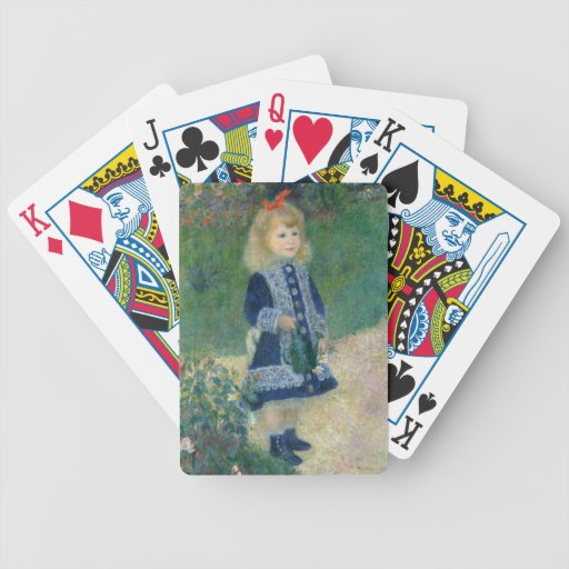 Girl with a Watering Can by Pierre-Auguste Renoir Card Deck