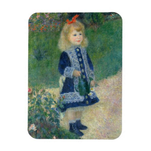 Girl with a Watering Can by Pierre-Auguste Renoir Vinyl Magnets