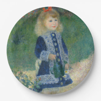 Girl with a Watering Can by Pierre-Auguste Renoir 9 Inch Paper Plate