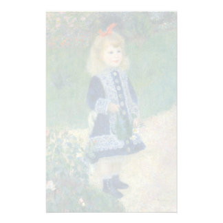 Girl with a Watering Can by Pierre-Auguste Renoir Customized Stationery