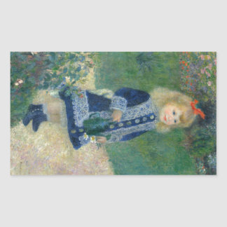 Girl with a Watering Can by Pierre-Auguste Renoir Sticker