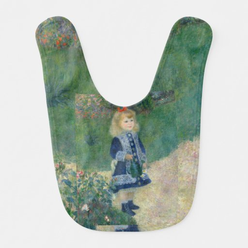 Girl with a Watering Can by Pierre-Auguste Renoir Bibs