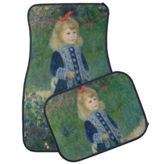 Girl with a Watering Can by Pierre-Auguste Renoir Floor Mat