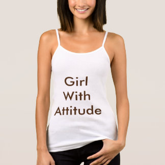 Girl With Attitude blue tee