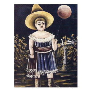 Girl with ball by Niko Pirosmani Postcard