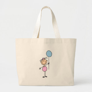 Girl With Balloon Stick Figure Bag