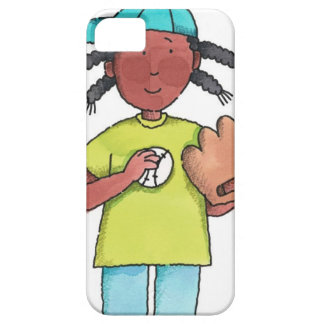 Girl with Baseball & Glove Barely There iPhone 5 Case