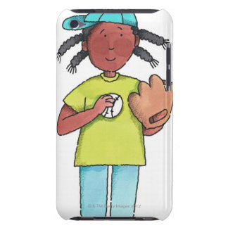 Girl with Baseball & Glove iPod Touch Case-Mate Case