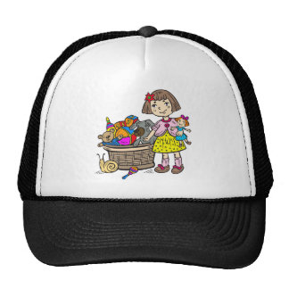 Girl With Basket Of Toys Cap