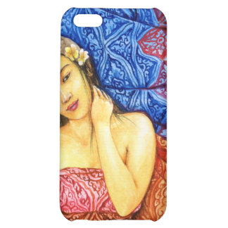 girl with batik case for iPhone 5C