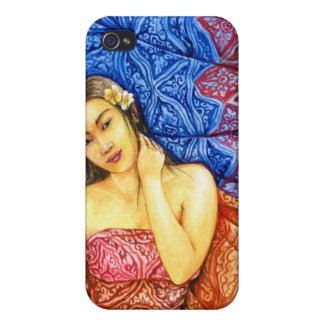 girl with batik iPhone 4/4S cases