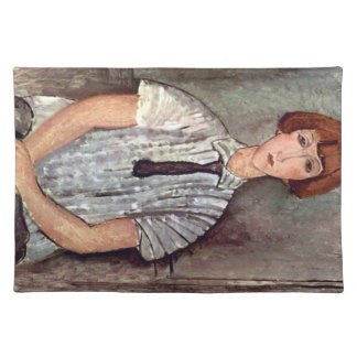 Girl with blouse by Amedeo Modigliani Placemat