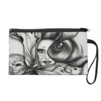 Girl with Butterfly Wristlet