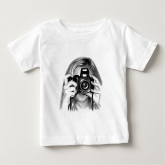 Girl with camera baby T-Shirt