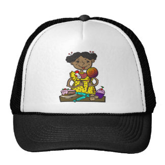 Girl With Candy and Cakes Trucker Hat
