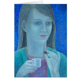 Girl with Chocolate 2011 Card
