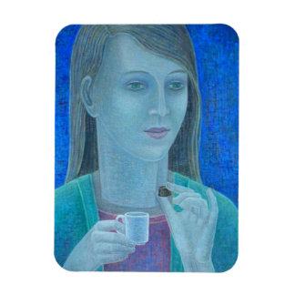 Girl with Chocolate 2011 Rectangular Photo Magnet