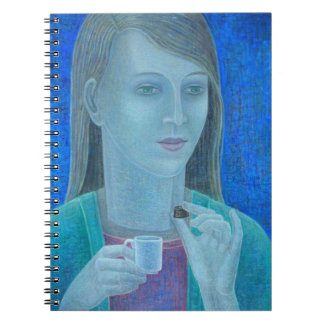 Girl with Chocolate 2011 Spiral Notebooks