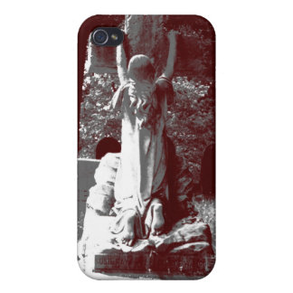 Girl with cross headstone iPhone 4 case