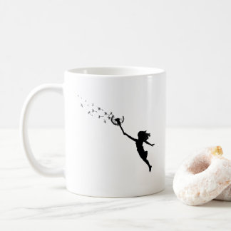 Girl with Dandelion Coffee Mug