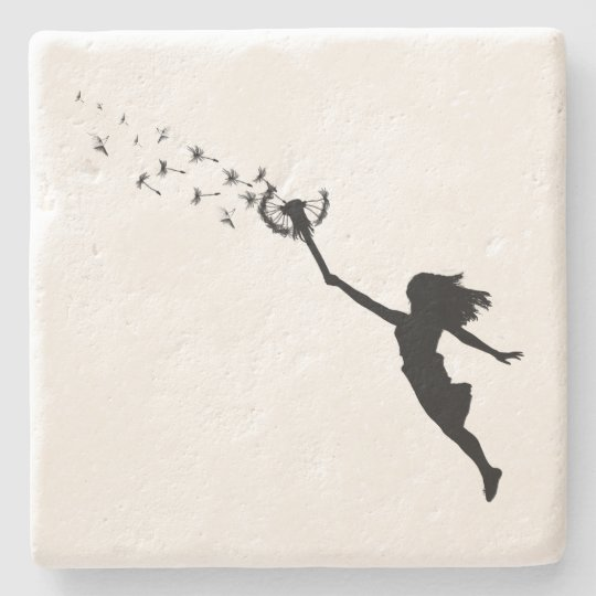 Girl with Dandelion Stone Coaster